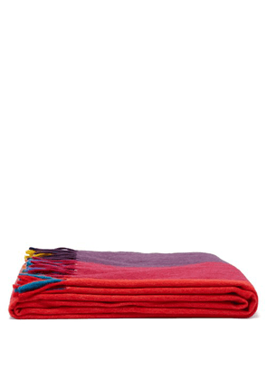 Begg & Co. - Festival Striped Wool Blend Blanket - Multi
