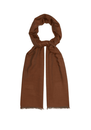 Begg & Co. - Wispy Extra Fine Cashmere Scarf - Mens - Brown