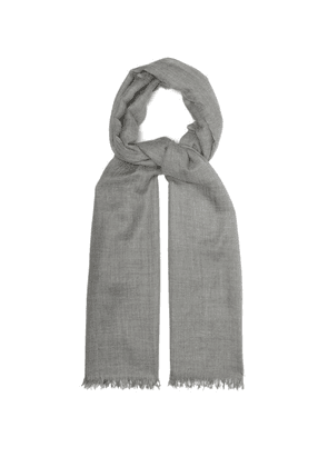 Begg & Co. - Staffa Cashmere Silk Scarf - Mens - Grey