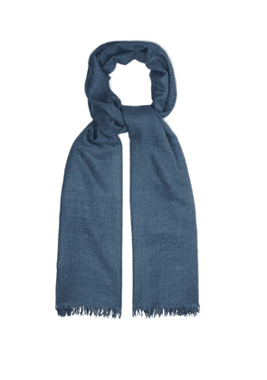 Begg & Co. - Staffa Fine Scarf - Mens - Blue