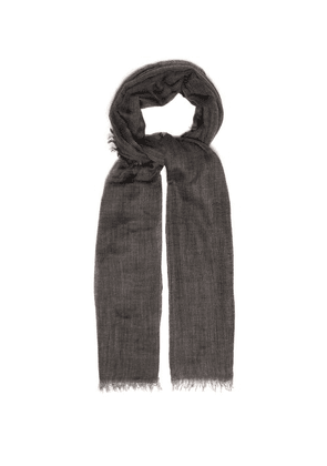 Begg & Co. - Filigree Cashmere Scarf - Mens - Grey