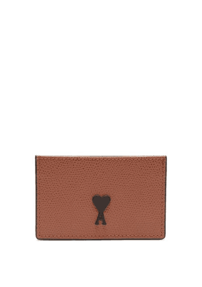 Ami - Logo Patch Leather Cardholder - Mens - Black
