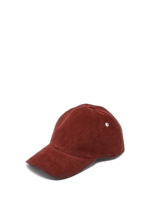 Ami - Cotton Corduroy Baseball Cap - Mens - Red