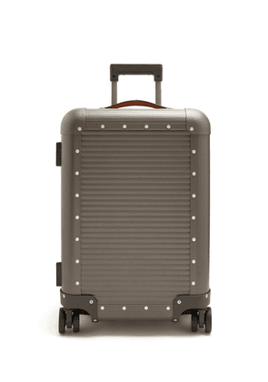 Fabbrica Pelletterie Milano - Spinner 53 Stud Embellished Cabin Suitcase - Mens - Grey