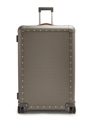 Fabbrica Pelletterie Milano - Spinner 76 Stud Embellished Suitcase - Mens - Grey