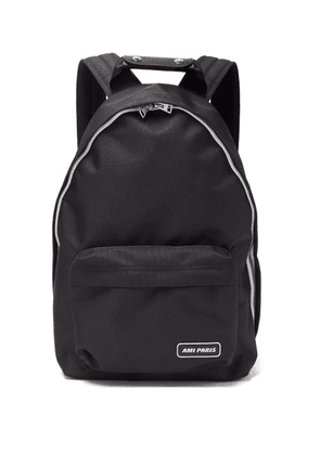 Ami - Logo Patch Canvas Backpack - Mens - Black
