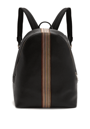 Paul Smith - Signature Stripe Leather Backpack - Mens - Black