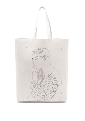 Calvin Klein 205w39nyc - X Andy Warhol Leather Tote Bag - Mens - White