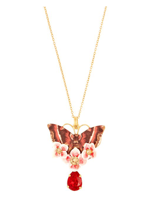 Dolce & Gabbana - Butterfly Crystal Embellished Necklace - Womens - Multi