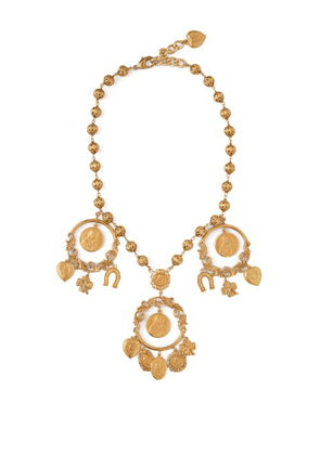 Dolce & Gabbana - Cameo And Good Luck Charm Necklace - Womens - Gold