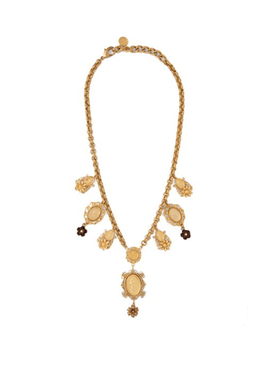 Dolce & Gabbana - Cameo Charm Necklace - Womens - Gold