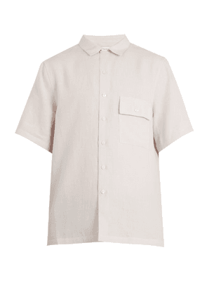 Fanmail - Patch Pocket Linen Shirt - Mens - Light Grey