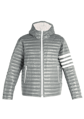 05ddd8b778 Thom Browne Striped Quilted Shell Hooded Down Jacket | MILANSTYLE.COM