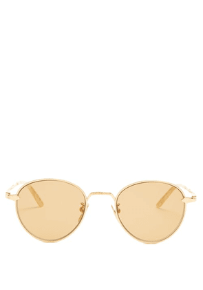 Gucci - Round Frame Metal Sunglasses - Mens - Gold