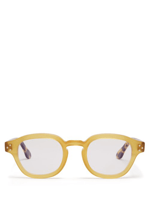 Cutler And Gross - Round Frame Glasses - Mens - Yellow