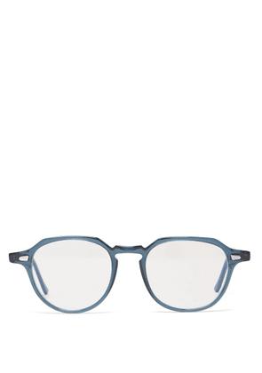 Cutler And Gross - Round Frame Acetate Glasses - Mens - Blue