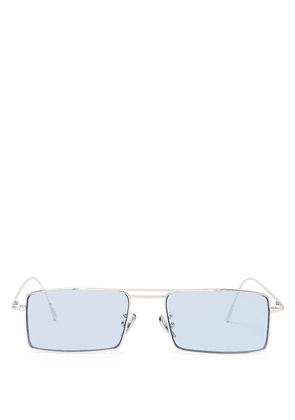 Cutler And Gross - Square Frame Sunglasses - Mens - Blue