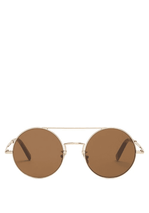Cutler And Gross - Round Frame Sunglasses - Mens - Gold