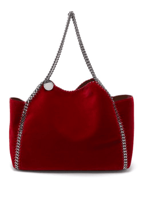70a23c9ab3 Stella Mccartney - Falabella Small Reversible Velvet Tote Bag - Womens - Red