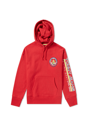 Tommy Jeans 5.0 Women's 90s Sailing Logo Hoody Barbados Cherry
