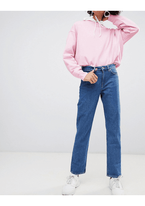 Weekday Mid Rise Slim Straight Jean in Organic Cotton
