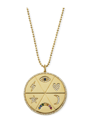 All the Feels 14k Multi-Stone Pendant Necklace