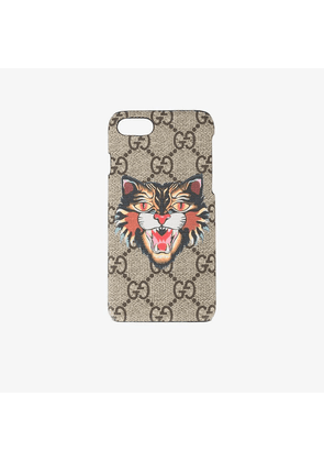 Gucci Angry Cat print iPhone 7 case