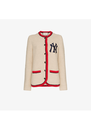 f68ab57e0 Gucci Black New York Yankees Edition Leather Bomber | MILANSTYLE.COM