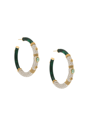 Gas Bijoux Comporta hoop earrings - Green
