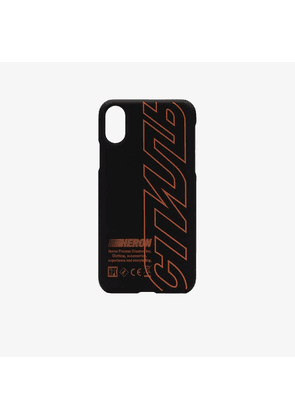 Heron Preston black and orange x css CTNMB logo iPhone X case