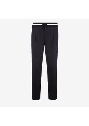 Bally Cotton Canvas Trousers Blue, Men's cotton canvas trousers in ink