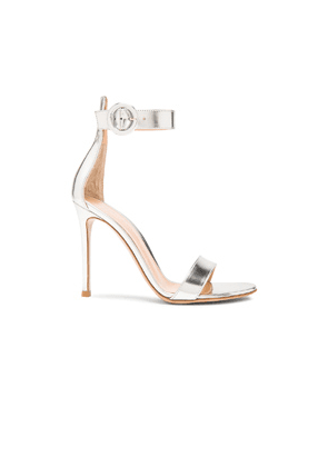 Gianvito Rossi Metallic Leather Portofino Heels in Metallics