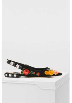 Flowers mix ballet pumps
