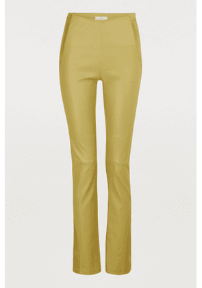 Leather stretch pant