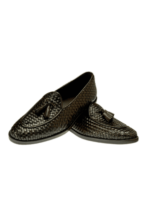 Belsire Mahogany Brando Woven Leather Loafer