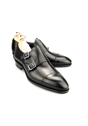 Black Double Monk Straps