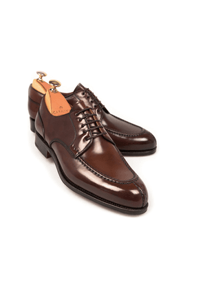 Carmina Armagnac Norwegian Split Toe Cordovan Leather Derbys