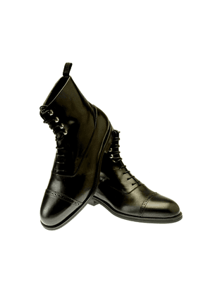 Belsire Black Oxford Leather Boots