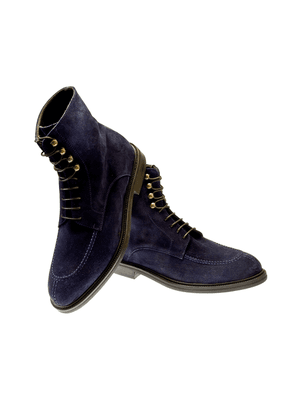 Belsire Navy Blue Suede Boots