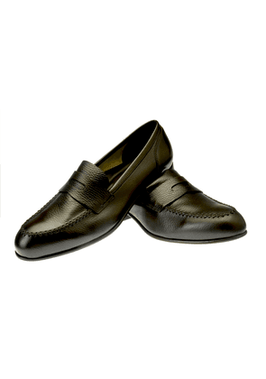 Belsire Dark Brown Gege Unlined Leather Penny Loafers