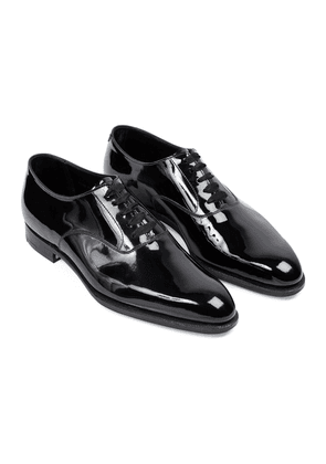 George Cleverley Black Patent Leather Ronald Oxford Shoes