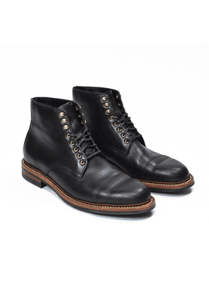 Oak Street Bootmakers Black Leather Dainite Cap-Toe Lakeshore Boots