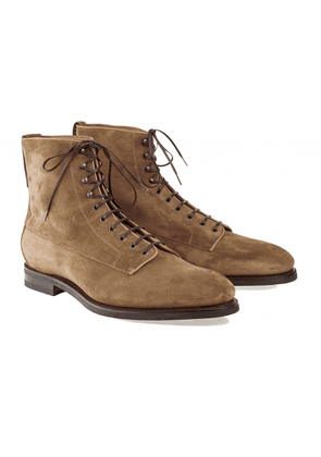 Barbanera Light Brown Kerouac Suede Balmoral Boots