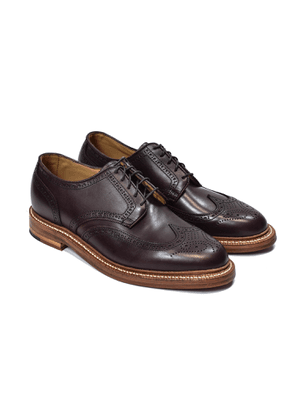 Oak Street Bootmakers Oxblood Calf Leather Double Sole Wingtip Shoes