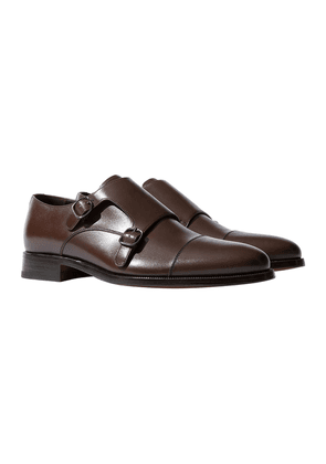 Scarosso Gervasio Marrone Leather Double-Strap Monk Shoes
