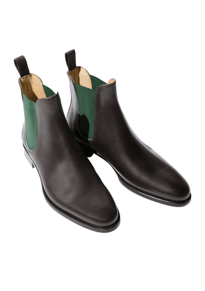 Scarosso Giancarlo Marrone Leather Chelsea Boots