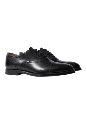 Scarosso Harrison Black Leather Oxfords
