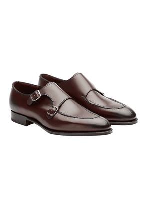 Edward Green Nightshade Leather Fulham Monk Strap Shoes