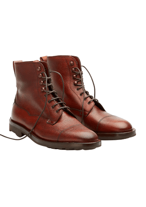 Edward Green Rosewood Leather Galway Laced Boots