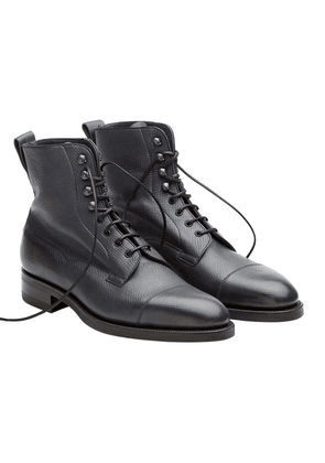 Edward Green Navy Calfskin Leather Galway Utah Laced Boots